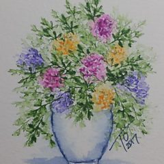 Art Impressions Watercolor Vase of Flowers
