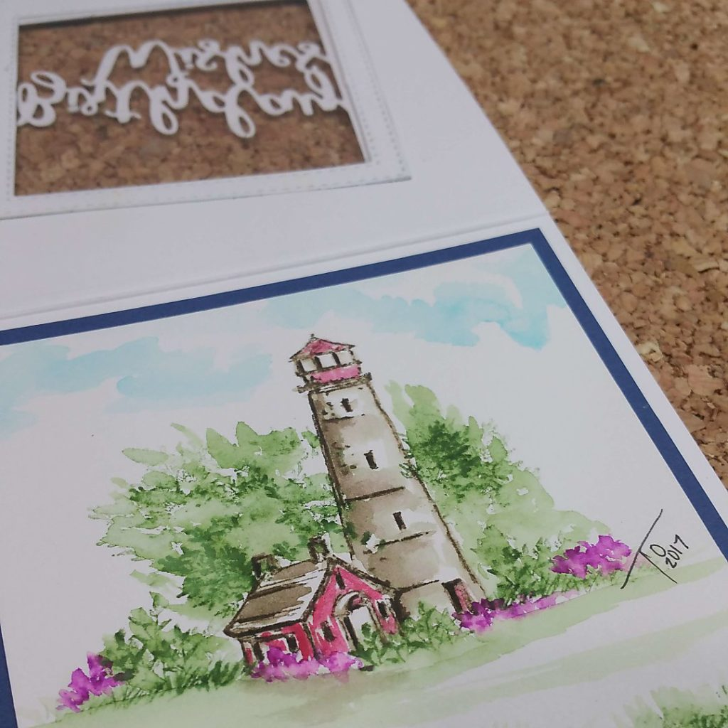 Handmade card using Art Impressions Watercolor Stamps