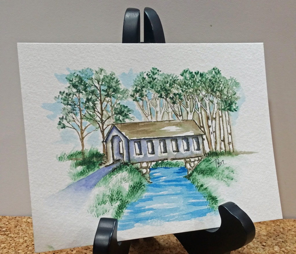 Watercolor Tutorial Covered Bridge