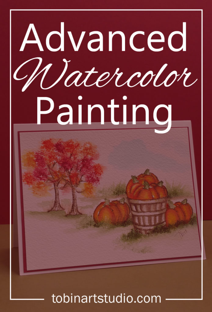 Advanced watercolor: Fall Pumpkins