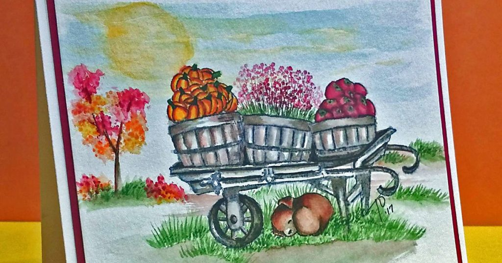 Watercolor Weekend: Autumn Farm Scene