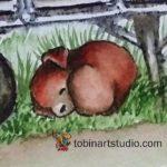 Watercolor Weekend: Autumn Farm Scene