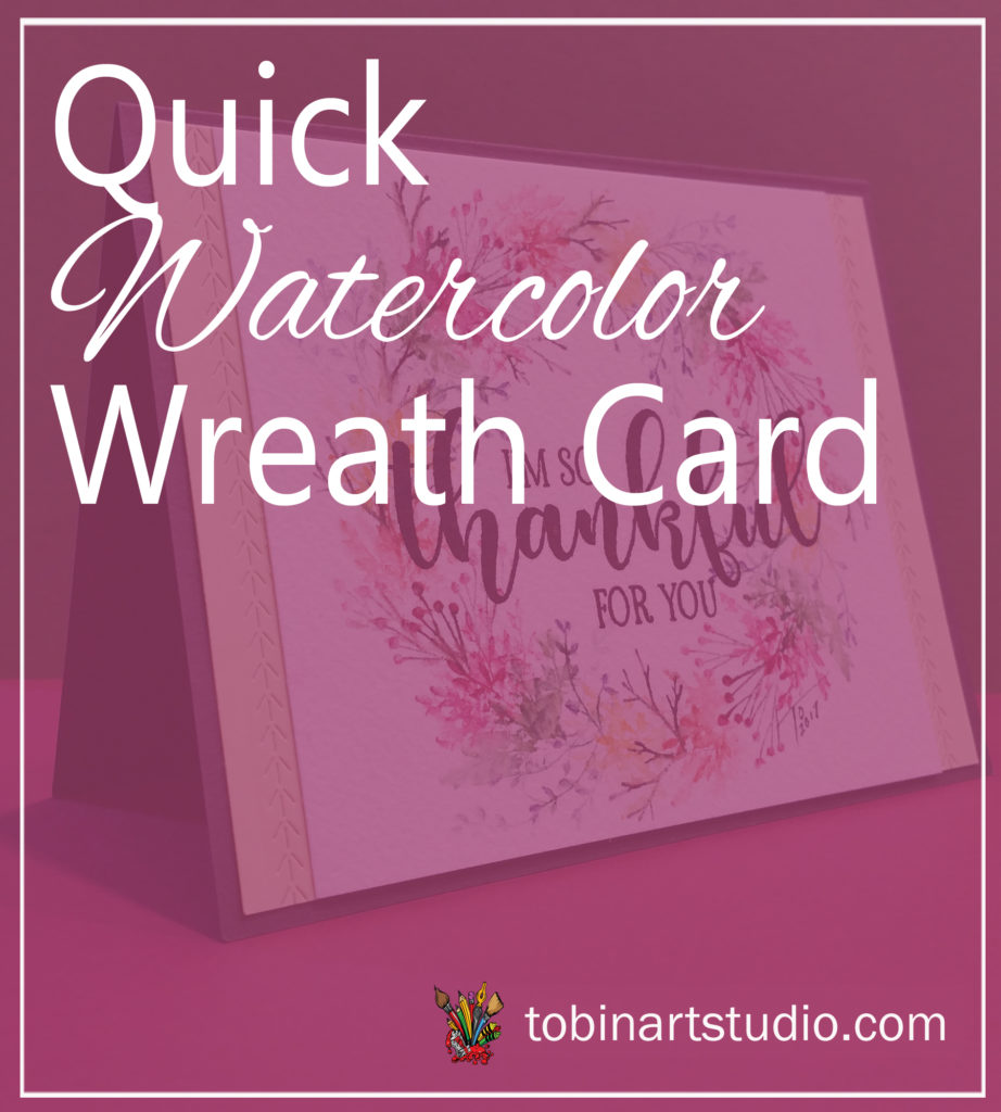 Thankful Watercolor Wreath Card
