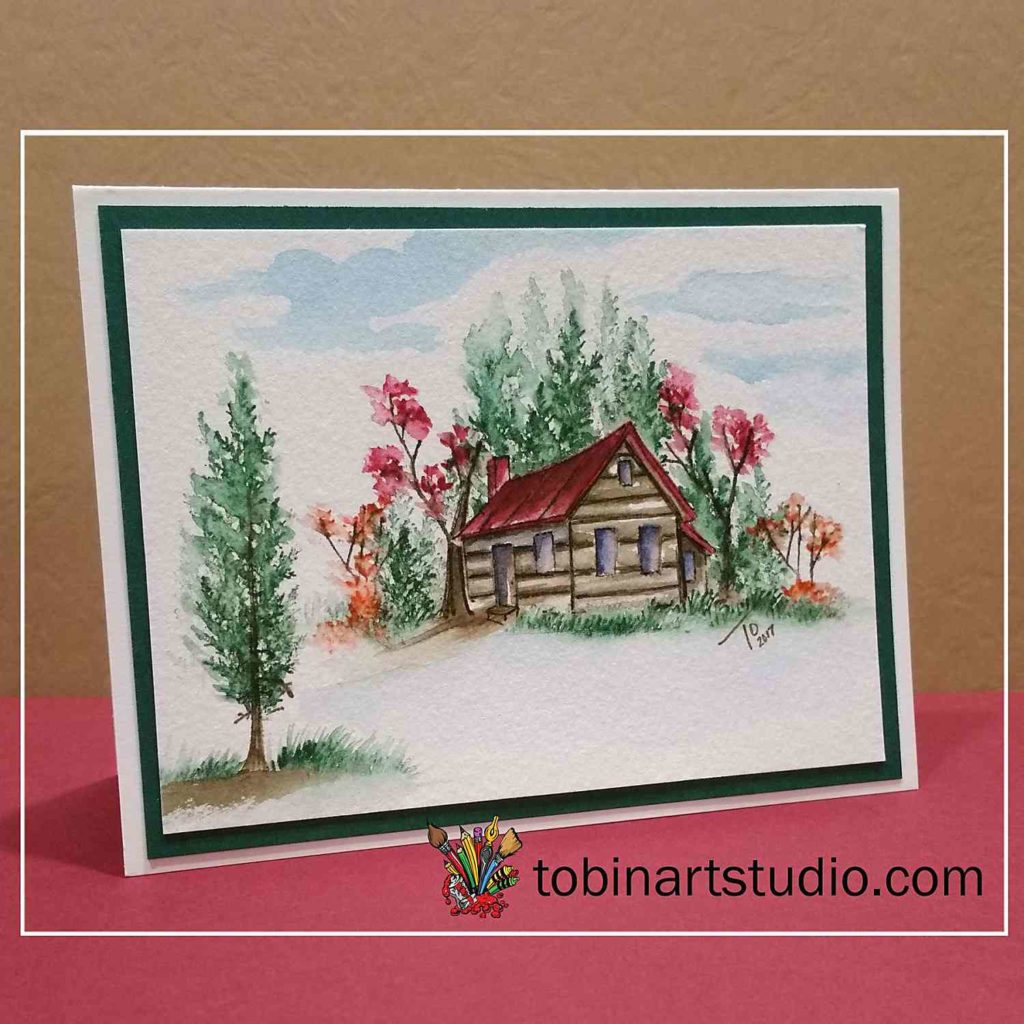 Watercolor Weekend | Fall Cabin
