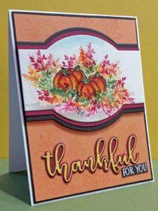 Watercolor - Thankful Pumpkins