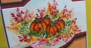 Thankful Pumpkins Watercolor