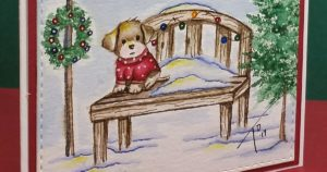 Watercolor Weekend | Holiday Puppy