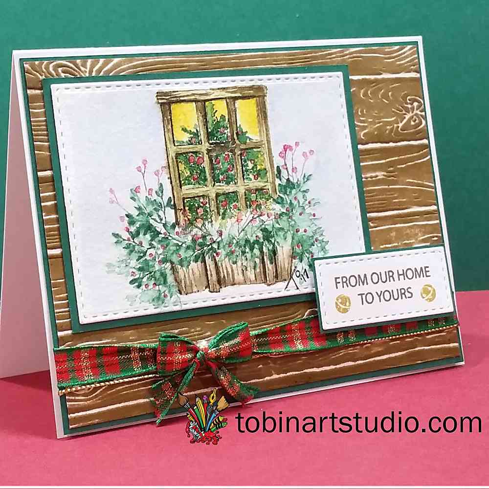 Watercolor Tutorial | Christmas Window