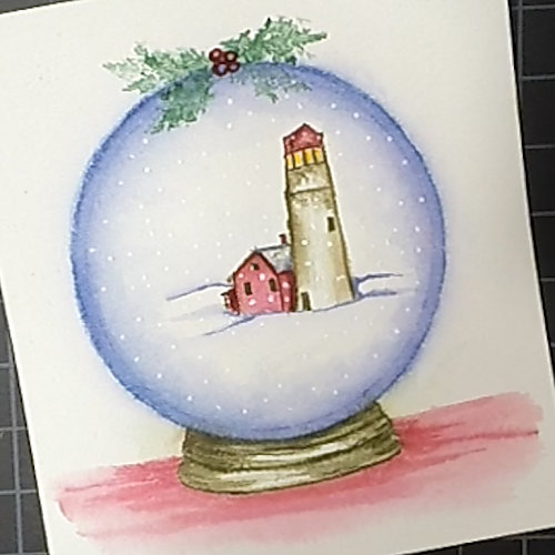 Snow Globe Watercolor Video
