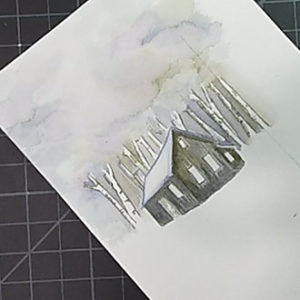 Watercolor Tag Money Holder