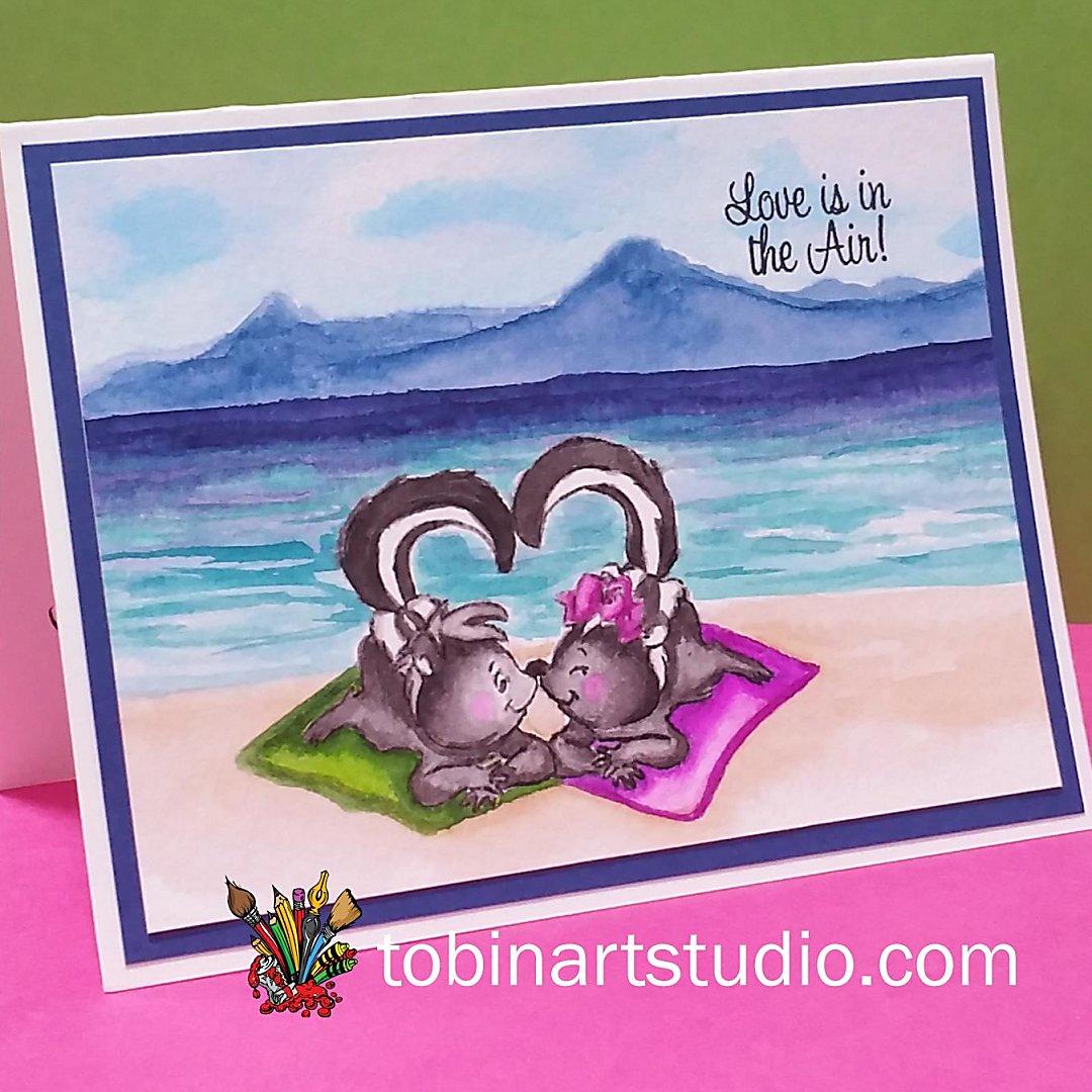 Skunk Love | Watercolor | Art Impressions