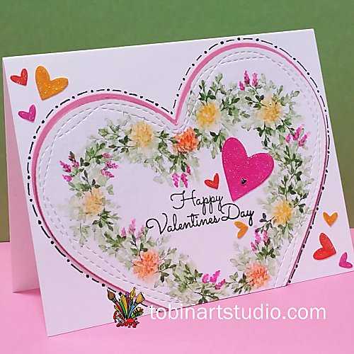 Watercolor Valentines Heart | Art Impressions Stamps